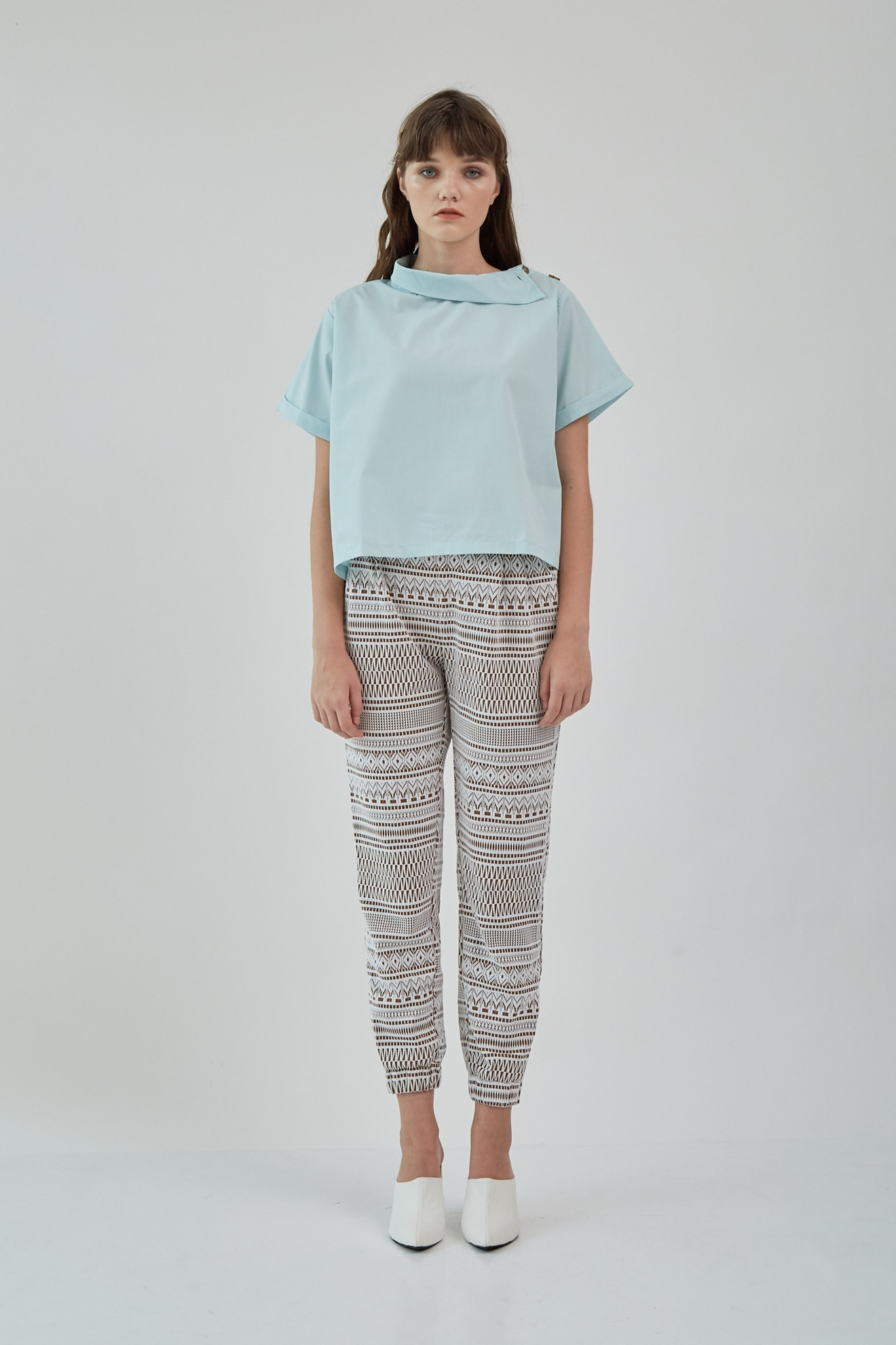 Picture of Vinilia CropBlouse CrystalBlue