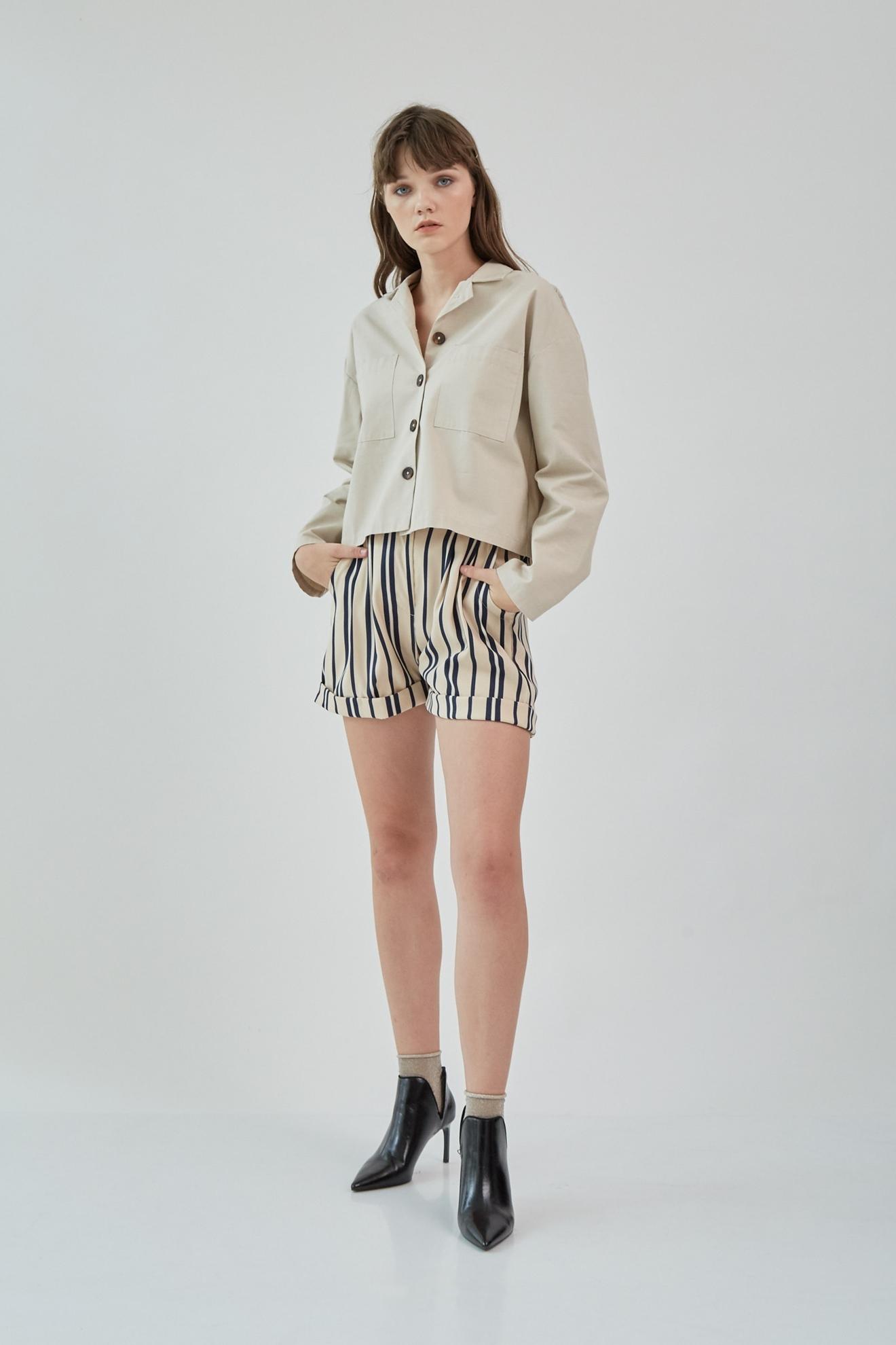 Picture of Mateo Shirt Jacket Cream